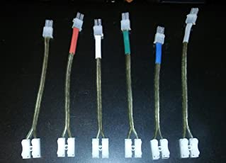 Home Theater 4.2 mm Speaker Cable (Multicolour) 6 Pieces