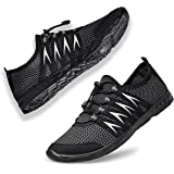 Water Shoes Mens Womens - Quick Dry Unisex Aqua Water Sports Trainers Swimming Pool Barefoot Surf Beach Boating Diving Yoga S