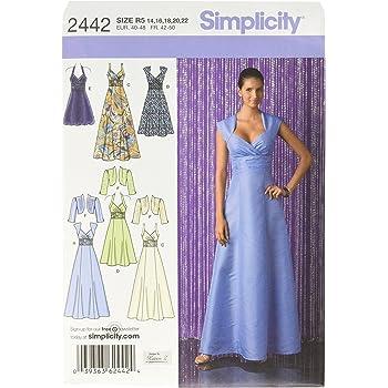 Simplicity 2580 Schnittmuster Festliche Kleider Gr. 44-52: Amazon.de ...