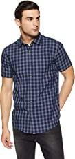 Ruggers Men's Checkered Regular Fit Casual Shirt