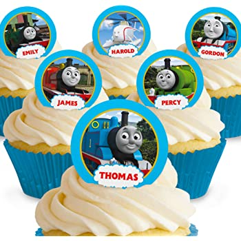 picture about Free Printable Thomas the Train Cup Cake Toppers called 48 Thomas the Tank Motor Cupcake Toppers: .british isles