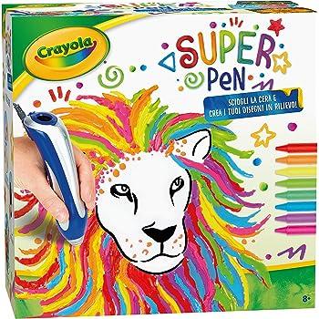 CRAYOLA Super Pen Sciogliere i Pastelli a Cera e Creare Disegni in Rilievo, 25-0384