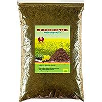 Global Mustard Oil Cake Powder for Plants Sarso ki Khali Organic Fertilizer Gardening Nutrient Manure 1 KG-15 KG (1…