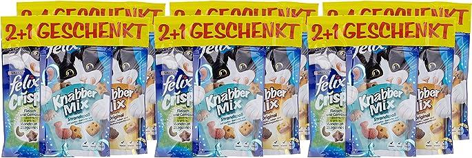 Felix Snacks Katzensnack Snackbox 12 + 6 gratis, 1 Packung (1 x 990 g)