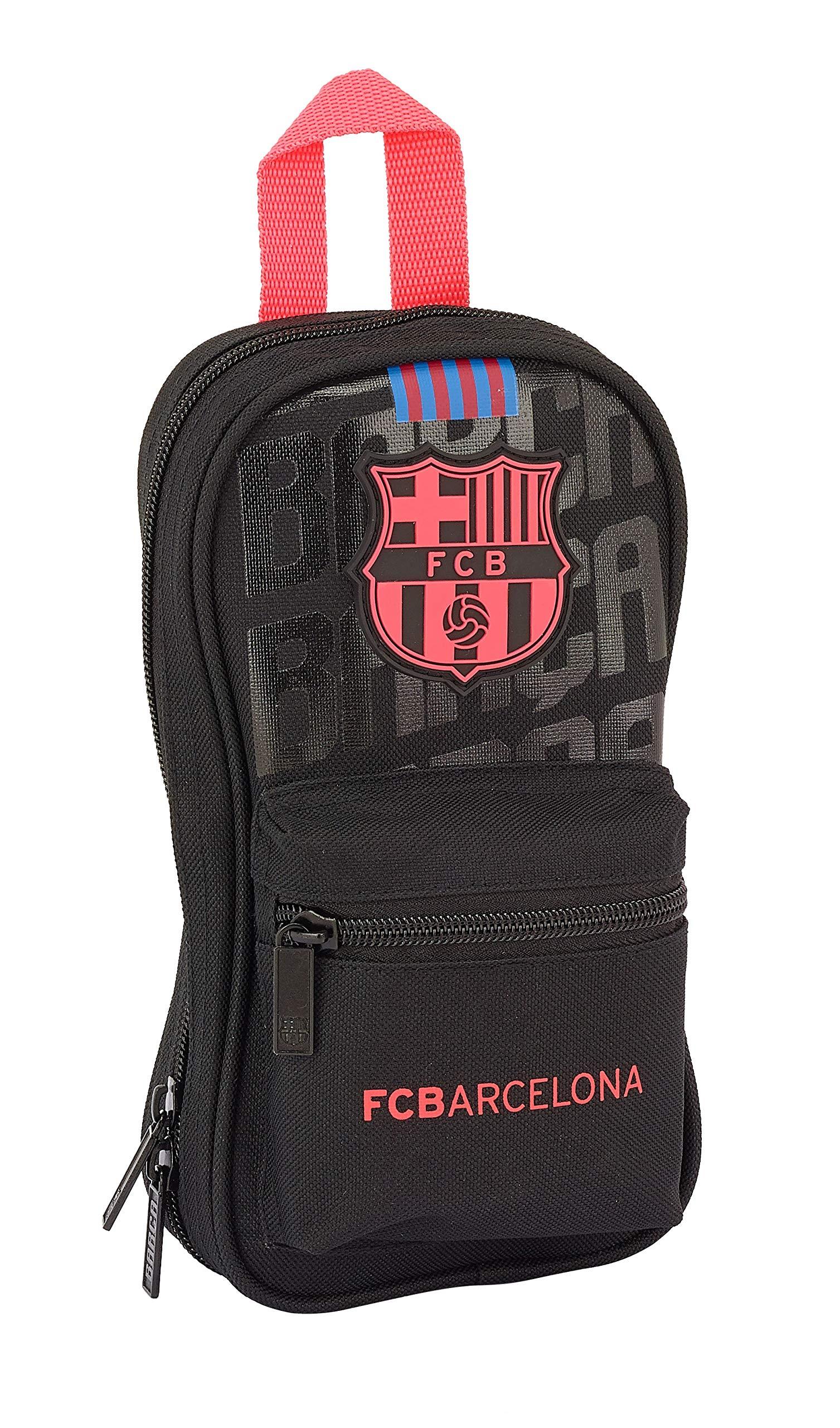 Fc barcelona plumier mochila con 4 port; llenos f.c.bar 12x23x5 color azul 23 cm 411927747.