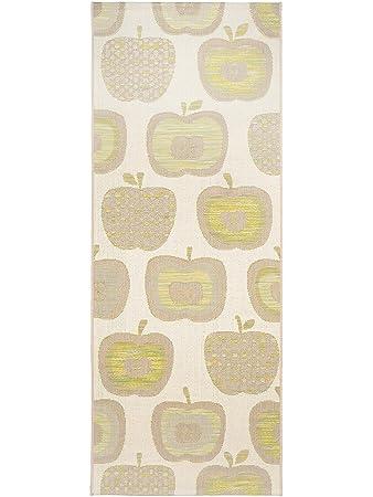 Pflegeleichter teppich  benuta Küchenläufer Apple Grün 80x200 cm | Pflegeleichter Teppich ...