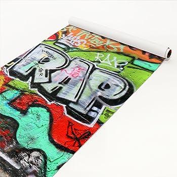 dekofolie selbstklebend graffiti wandtattoo klebefolie m belfolie schrankfolie dekorfolie. Black Bedroom Furniture Sets. Home Design Ideas