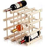 Casier à bouteilles de vin pour 12bouteillesen bois - modulable, extensible, personnalisable selon vos besoins- pratique p