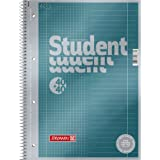 Brunnen 1067174Vera Treated Cover with Metallic Effect A4Lined Notepad/Student Premium Duo, 27/28, 90g/m²; 40Sheets Ruled