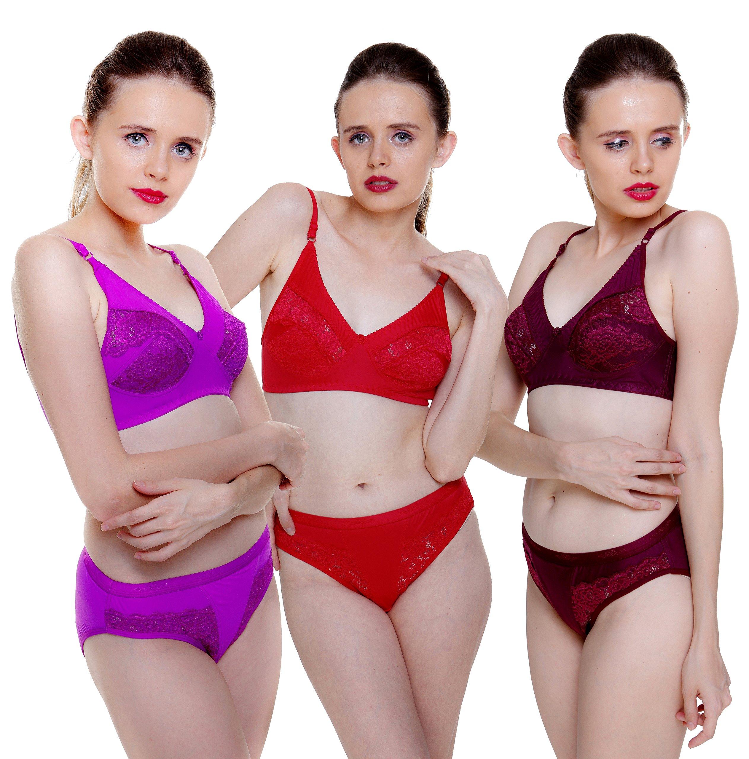 2940b820a9 Fashion Comfortz Women s Girls Lace Katty Lycra Spandex (4WAY ...