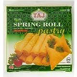 Taj Plain Spring Roll Pastry, 600g (Frozen)