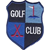 Iron on Patch Sew on Embroidered Application Golf Club Badge Emblem Sport