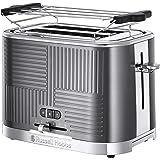 Russell Hobbs Toaster Grille-Pain, 4 Fonctions, Brunissage Uniforme, Température Ajustable, Réchauffe Viennoiseries, Pince -