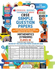 Oswaal CBSE Sample Question Paper Class 10 Mathematics Standard Book (For March 2020 Exam)