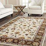 Naz Carpet Striped Persian Persian Carpet (Multicolour, Wool & Wool Blend, 5x7 Feet)