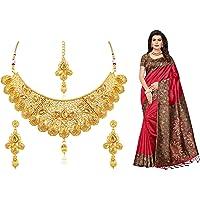 GoSriKi Art Poly Silk Saree with Blouse Piece