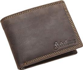 Leder Geldbörse Herren – Handgefertigt – Premium Geldbeutel - Echtleder Portemonnaie - Wallet - Portmonee - Brieftasche