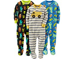 Simple Joys by Carter's Baby Boy's 3-Pack Snug Fit Footed Cotton Pajamas, Pack of 3