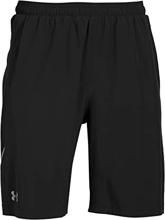 under armour mens shorts. under armour men\u0027s launch stretch woven 9-inch shorts - black, small mens