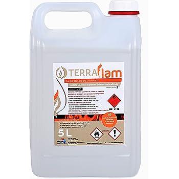 Terraflam Bidon de bioéthanol pour lampes et cheminées Combustion de grande  qualité Ne génère pas de fda3b705818