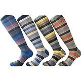 CriCri Socks 4 Paia Calze Uomo Lunghe in Fresco Cotone Leggero e Mercerizzato Alta Qualità Made in Italy - Taglia Unica