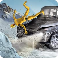 Car Crash Test Winter Road Simulator