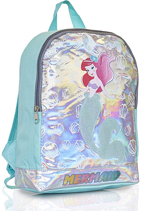 "Disney Little Mermaid Ariel School Backpack 10/"" Toddler Girls Bag"