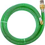 Güde 94440 Zuiggarnituur KA 4P (spiraal-aanzuigslang met messing voetventiel en roestvrijstalen zuigmand, 4 m), groen