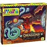 Orb Factory - ORB06224 - Loisirs Créatifs - Mosaique Numérotée Dragons avec Autocollants