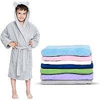 Twinzen - Accappatoio Bambini Cotone : Ragazzo e Ragazza - 100% Cotone OEKO-TEX® Senza Prodotti Chimici - 2 Tasche…