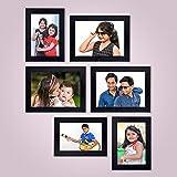 AJANTA ROYAL Collage Photo Frames (Set of 6, Wall Hanging - Black) : A-93A