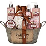 BRUBAKER Cosmetics Bade- und Dusch Set Kokosnuss & Erdbeer Duft - 11-teiliges Geschenkset in Vintage Wanne