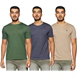 Amazon Brand - Symbol Men's Solid Regular Fit Half Sleeve T-Shirt (Combo Pack of 3)