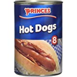 Princes 8 Hot Dogs in Brine 400 g (Pack of 12)