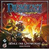 Asmodee HEI0602 - Descent 2 Edition, Die Höhle des Lindwurms, Strategiespiel, Erweiterung