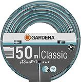 """GARDENA Classic Schlauch 13 mm (1/2""""), 50 m: Universeller Gartenschlauch aus robustem Kreuzgewebe, 22 bar Berstdruck, druck- und UV-beständig (18010-20)"""