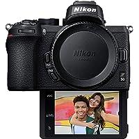 Nikon Z50 Compact Mirrorless Digital Camera with Flip Under Selfie/Vlogger LCD, Body