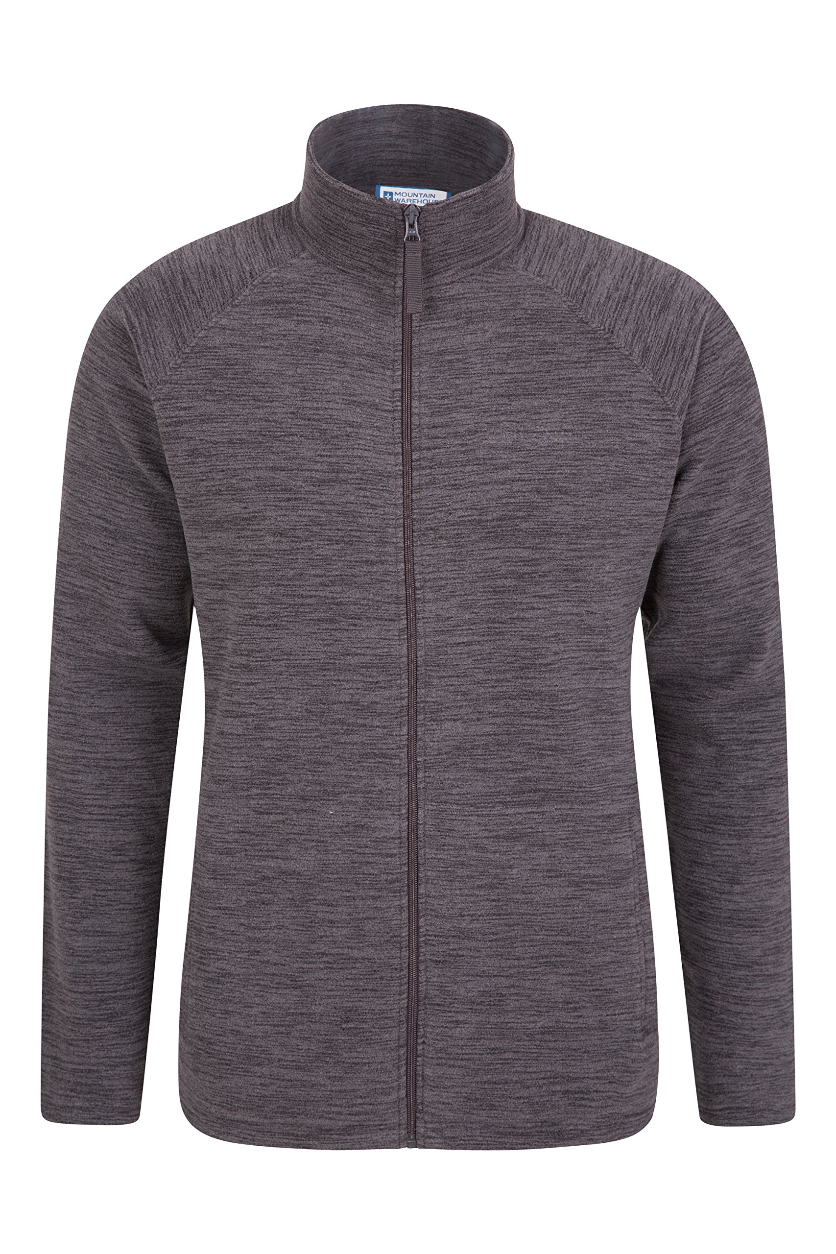 Mountain Warehouse Snowdon Mens Full Zip Fleece - Midlayer Pullover, Breathable Jacket, Soft Outerwear, Smooth Fleece Top - for Winter, Travelling 1