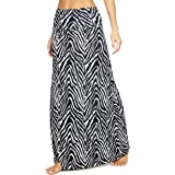 EXCHIC Women's Bohemian Style Print Long Maxi Skirt