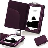 Forefront Cases Amazon Kindle eReader (8. Generation - 2016 Modell) Shell Hülle Schutzhülle Tasche Case Cover Stand mit LED Licht - Extra Robust und Leicht mit Rundum-Geräteschutz (VIOLETT)