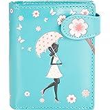 Shagwear Junge Damen Geldbörse Small Purse und Designs (Blossom Shower Teal/Blütendusche Petrol)