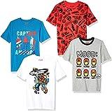 Marca Amazon - Spotted Zebra Star Wars 4-pack Short-sleeve T-shirts - novelty-t-shirts Unisex niños