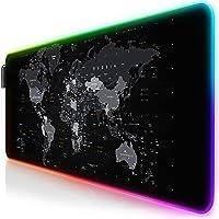 TITANWOLF - RGB Tappetino per Mouse da Gioco XXL - Mouse Pad Gaming - 800x300mm - 11 LED Colori e Effetti di Luce…