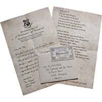 MC Sid Razz Harry Potter Hogwarts Acceptance Letter | Officially Licenced by Warner Bros., USA (Paper, Brown)