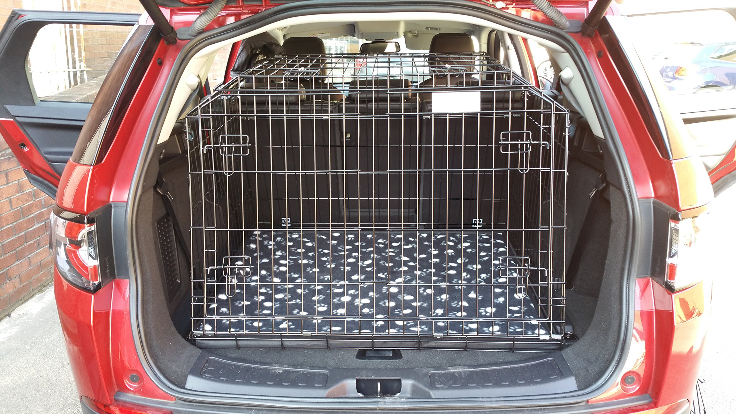 Arrow LANDROVER DISCOVERY SPORT 15 ONWARDS SLOPED 4×4 ESTATE CAR DOG CAGE TRAVEL CRATE PUPPY BOOT GUARD CAGES