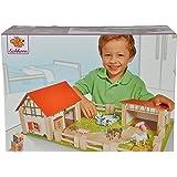 Smoby Eichhorn - 100004308 - Ferme en bois - Accessoires inclus