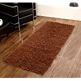 Saral Home Plaid Bedside/Kitchen Runner (Brown, Cotton, 40x120 Cm)