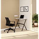 SOS Spacewood LiteOffice Wooden Y Line Desk Home and Office Table Standard (Black)