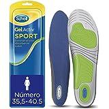 Scholl Plantillas Gel Activ Sport para mujer, para zapatillas deportivas, mayor amortiguación y absorción del olor y sudor, t