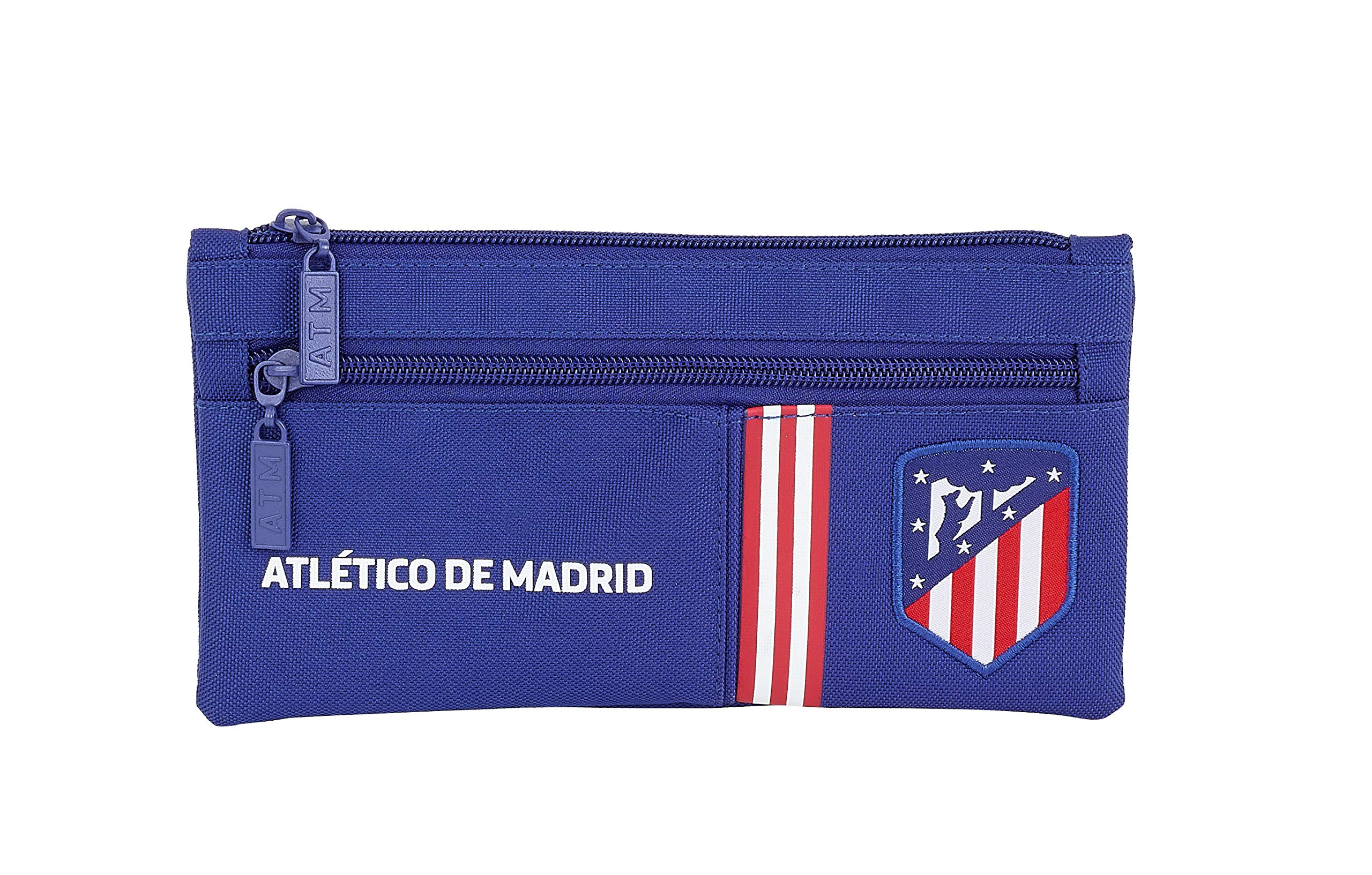 Atlético de Madrid «In Blue» Oficial Estuche Doble Cremallera Escolar 230x110mm